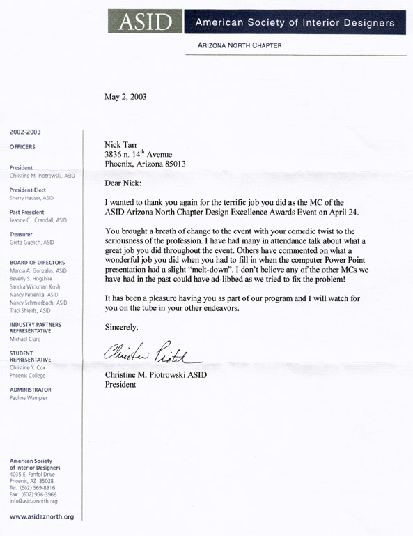 ref letters